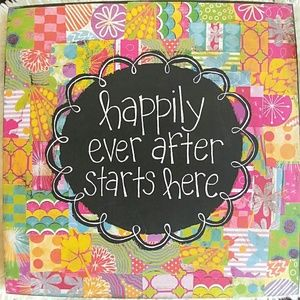 NEW Canvas Painting  HAPPILY EVER AFTER